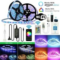 5M 10M 5050 RGBW RGBWW LED Strip Lights Power Kit Smart WiFi Alexa Google Home