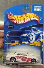 2001 Hot Wheels #117 White Shoe Box with 5 Spoke  Wheels