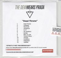 THE DEVIL WEARS PRADA Dead Throne UK numbered + sealed promo test CD