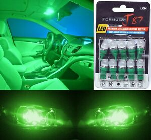 LED 5050 Light Green 194 Ten Bulbs Front Side Marker Parking Show Replace Fit