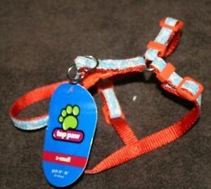 """New!   Top Paw    Dog  HARNESS    orange w/ bones    size XS     girth 10""""- 16"""""""