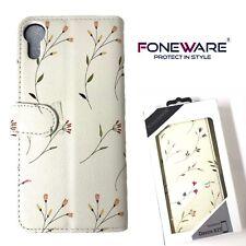 Foneware HTC Desire 825 Luxury Wallet Cover Flip Book Case Card Slot Flowers