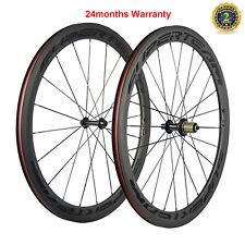 50mm Carbon Fiber Wheels Road Bike Wheelset Transparent Decal 3K Matte Shimano