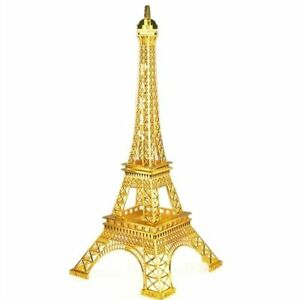 GOLD Eiffel Tower Paris France Metal Stand Model For Table Decor CHOOSE SIZE