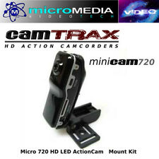 CamTRAX- Mini 720 HD Action Camcorder Security Video pics-Mount Kit