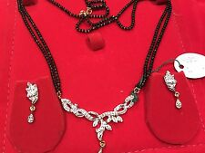 INDIA-MANGALSUTRA-GOLDEN-AD CRYSTALS-NECKLACE-BOLLYWOOD SUHAG WEDDING-USA SELLER