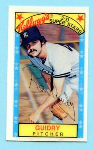 1979 Kelloggs # 11 Ron Guidry -- Yankees -- Box 342