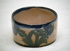 Vintage Stoneware Cerasada Bowl Art Pottery Cobalt Blue A.M.M. Fatto Mano Italy
