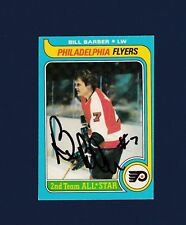 Bill Barber signed Philadelphia Flyers 1979-80 Opee Chee hockey card