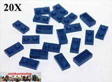 24x LEGO® Platte 1x2 3023 NEU Dunkel Blau Dark Blue