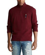 ***LARGE***Polo Ralph Lauren Men's Preppy Bear 1/4 Zip Pullover Sweater