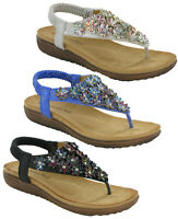 Heavenly Feet Irene Ladies Sandals Flip Flops Padded Cushioned Comfort Shoes