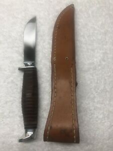 Vintage Case XX Stacked Leather Handle Sheath Knife #366 Excellent Condition