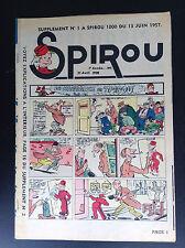 RARE supplément N°1 1957 Spirou N° 1000
