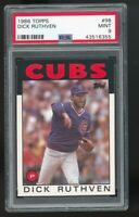 1986 Topps #98 Dick Ruthven Chicago Cubs PSA 9 MINT SET BREAK! QTY Available