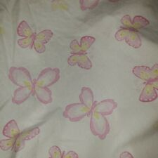 Pottery Barn Kids Pbk Butterfly Full Bed Fitted Organic Sheet Pink White 54 x 75