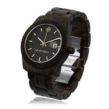 AB AETERNO Storm 100% Madera Sandalo Negro Swiss Movimiento Cuarzo Hombre Reloj