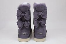UGG Meilani Suede Wool Double Suede Bow Nightfall Color U.S Size 10 CUTE!