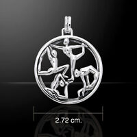 Yoga .925 Sterling Silver Pendant by Peter Stone