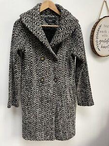 PAUL COSTELLOE Knitted Wool Coat - Size M