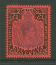 BERMUDA 1938-49  GEOVI SG121   £1 BLACK PURPLE   UNMOUNTED MINT