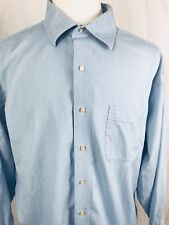 Tommy Bahama Mens Dress Shirt Size 17.5 Long Sleeve Button Front Blue Striped 1C