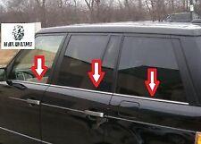 Land Range Rover L322 Vogue chrome window frame trims 6 pcs 2002-2013 S. Steel