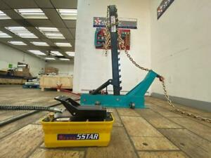 Pulling Post Frame Straightener Frame Machine FREE CLAMPS & 3 TON AIR JACK!