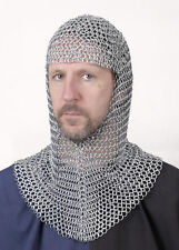 Chain mail coif, galvanised - Chain mail - maille - hat Medieval Armour