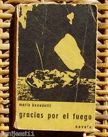 Gracias por el fuego, Mario Benedetti, Editorial Alfa, 301 páginas, año 1966