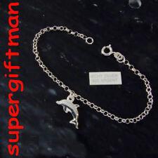 K503 -19CM- BRACELET AVEC DAUPHIN dolfijn zilver ARGENT
