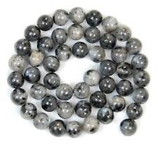 8mm Black Labradorite Gemstone Round Loose Bead 15''