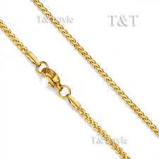 T&T 2mm 18k GP Stainless Steel S Chain Necklace (C107)
