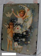 Eisen Schild Glanzbild Feen + Elfen Valentine 35x27cm geschenkehimmel.de Impor