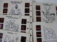 5 Vintage Tru-Vue Picture Story Views Cindrella Goldilocks Snow White Bambi