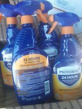 4 bottles Microban Protects 24hr Bathroom Cleaner 4/32oz each Citrus NEW