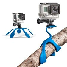Flexible Mount Tripod For Smartphone Portable Car Phone Holder iPhone Gopro Blue