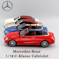 1/18 Mercedes-Benz C-Klasse Cabriolet Convertible Sports Car Model Collection