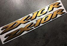 Aufkleber-Set 2-tlg Kawasaki ZX-10R ZX10R Bj. 2008-10 ZXT00E/F gold-schwarz Neu!