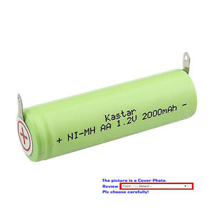 Kastar Ni-MH 2000mAh Battery for Norelco 5812XL 5814XL 5818XL 6613X 6614XL 6615X