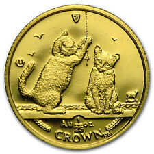 2001 Isle of Man 1/25 oz Gold Somali Kittens Cat BU - SKU #95811