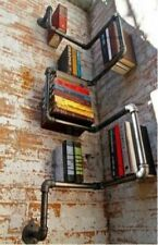 Industrial Urban Style Galvanised Steel Pipe Shelf Storage Shelving Book NEW