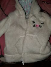 Cute Furry Bunny Child's Zip Up Pullover 0-3 Months