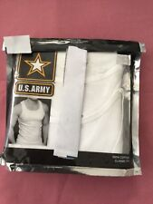NWOT U.S. ARMY 3 CLASSSIC FIT WHITE TANK TOP COTTON T SHIRT MEN SIZE LARGE
