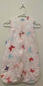 The Gro Company sleeping Bag 0-6 Months 1.0 TOG pink purple butterfly theme