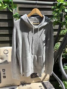 All Saints Mens Wool Mix Hoodie Jumper Size S Preowned