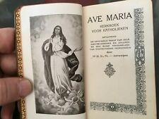 Vintage Antique Ave Maria Kerkboek Voor Katholieken 1937 leather binding