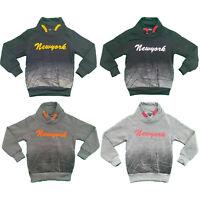 Boys Kids Jumper Sweatshirt Top Fleece Winter Warm Pullover New York Printed