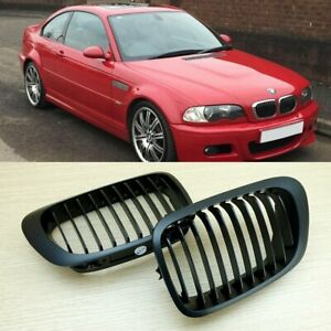 Matt Black For BMW 3-series E46 M3 Front Hood Grill 1998-2002 Coupe Convertible