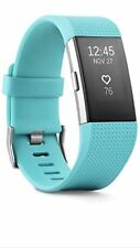 Fitbit Charge 2 Activity Tracker + Heart Rate + Large Teal Fitness Wristband